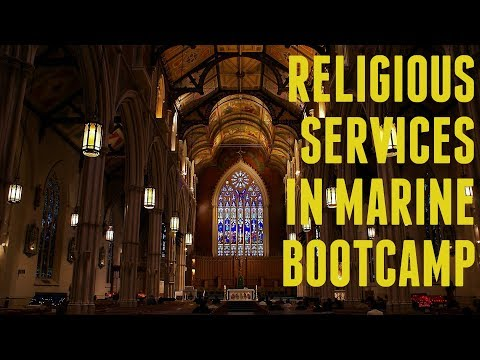 Religious Services in Marine Bootcamp