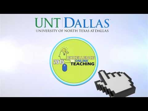 UNT Dallas - 2015 Excellence in Online Teaching Awards Logo