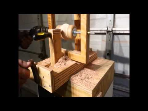 Simple Jig Wood Sphere With A Screw Driver Youtube