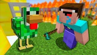 Нуб построил огромную курицу мутанта в майнкрафт ! Нуб в билд батл мини игра майнкрафт мультик