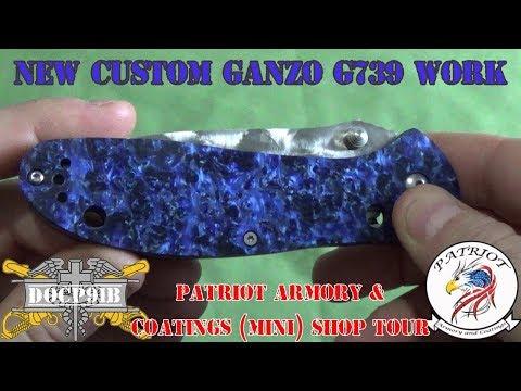 New Custom Ganzo G739 & Patriot Arms Shop (mini) Tour