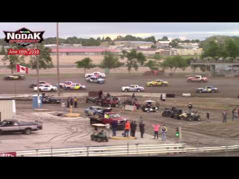 Nodak Speedway IMCA Hobby Stock A-Main (6/16/19)