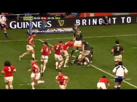 George North two tries on Wales debut.flv