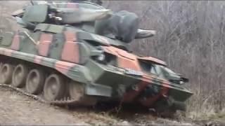 Тунгуска М1 стрельбы на полигоне учения / Tunguska M1 fire exercises on the range