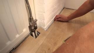 Laminaat gelegd op acrisol ondervloer