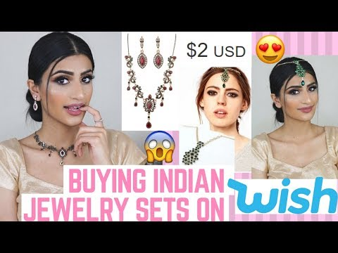 BUYING $1, $2 INDIAN JEWELRY SETS FROM WISH!?
