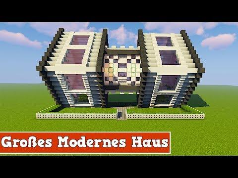 Wie baut man ein modernes großes Haus in Minecraft | Minecraft Modernes Haus Bauen Deutsch