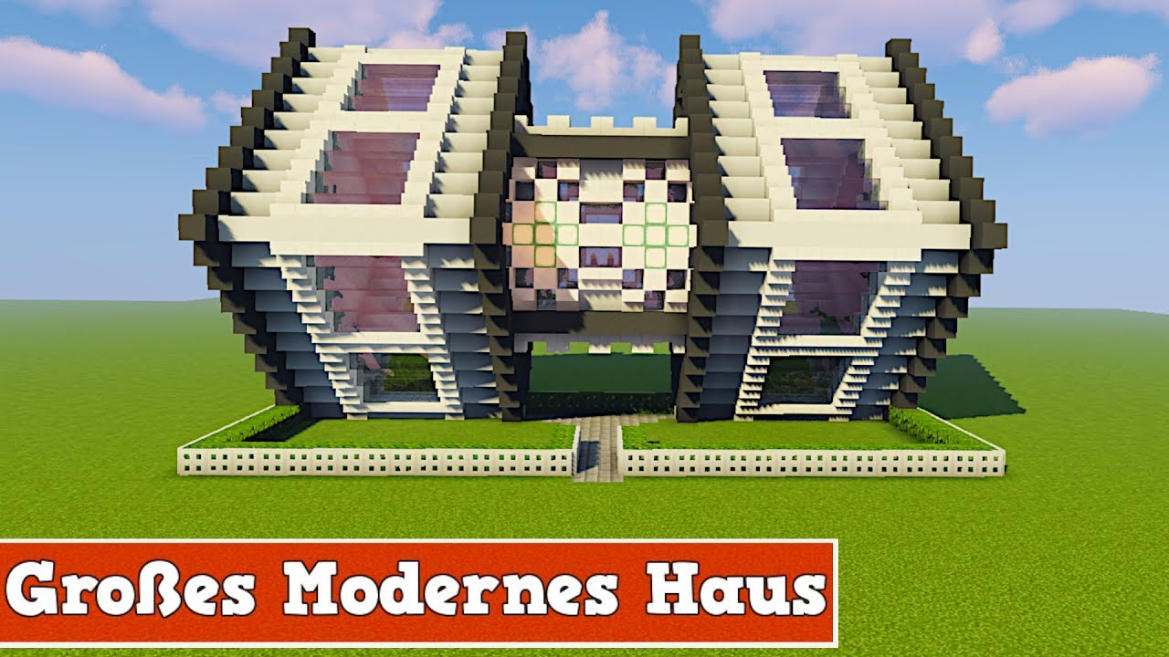 wie baut man ein modernes gro es haus in minecraft minecraft modernes haus bauen deutsch youtube. Black Bedroom Furniture Sets. Home Design Ideas