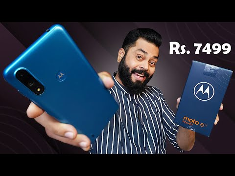 Moto e7 Power Unboxing And First Impressions ⚡ 5000mAh, 4GB RAM, Helio G25 & More