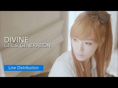 GIRLS' GENERATION - Divine : Line Distribution