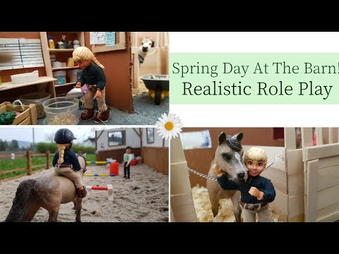 Spring Day At The Barn Schleich Realistic RolePlay Ep. 1