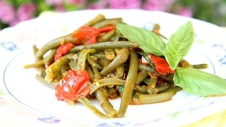 Nonna's Italian Green Beans Recipe - Laura Vitale - Laura In The Kitchen Episode 791