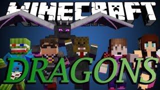 Minecraft ENDER DRAGON DESTRUCTION Minigame w/ SkyDoesMinecraft, BajanCanadian and friends!