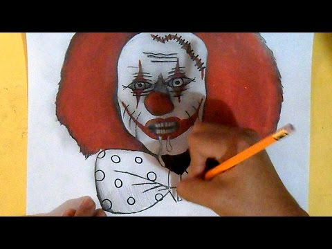 Dessin Clown Zombi Graffiti