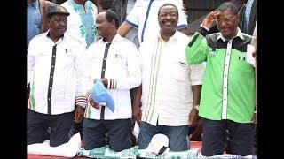 Nasa leaders attend church at Kiminini ahead of their campaigns