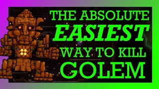 (1.3 ONLY) The ABSOLUTE EASIEST Way to Beat Golem in Terraria!