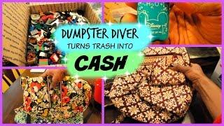 Dumpster Diver Turns Trash Into CASH $$$ Legos, Vera Bradley etc