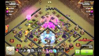 CoC Clash of Clans GoWiWi 100% 3 Star on TH10 with Healing Queen