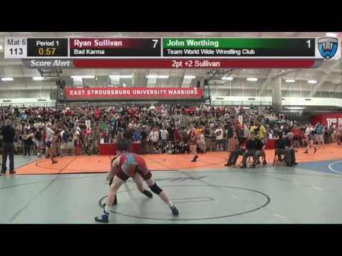 339 Cadet 113 Ryan Sullivan Bad Karma vs John Worthing Team World Wide Wrestling Club 407232104