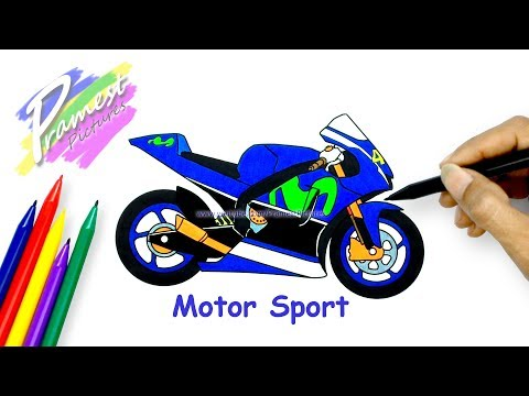 How to Draw a Motorcycle - MotoGP