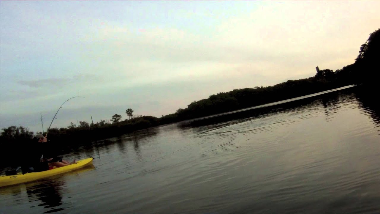 Kayak winter snook fishing florida youtube for Kayak fishing florida