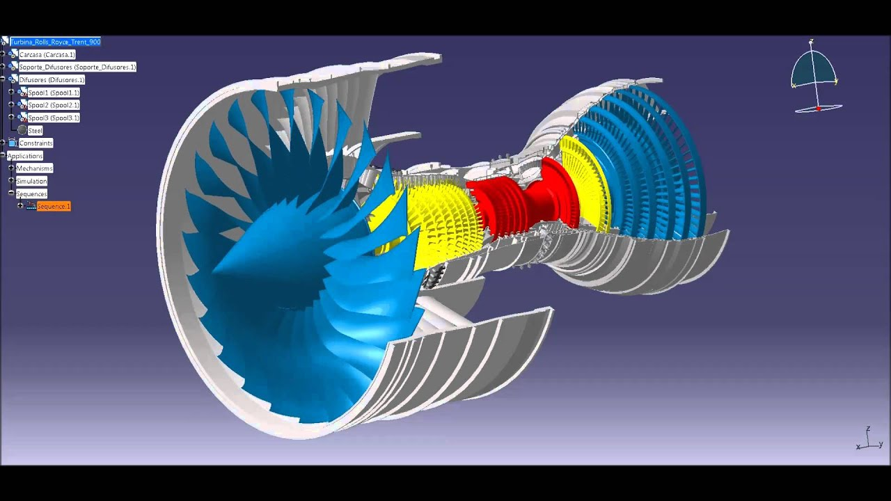 Turbina Rolls Royce Trent 900  YouTube