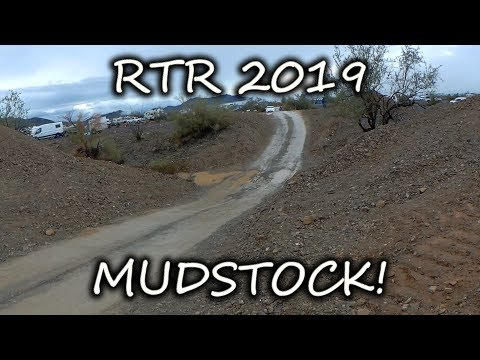 RTR 2019 Muddy MESS! Rigs STUCK IN THE MUD After Rain In The Quartzsite Desert.