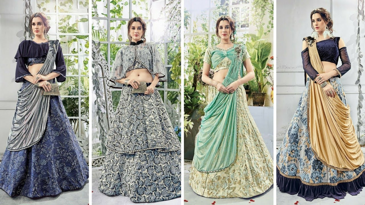 Latest New Style Indo Western Lehenga Design Simple Crop Top Lehenga Design Ideas Trending Now