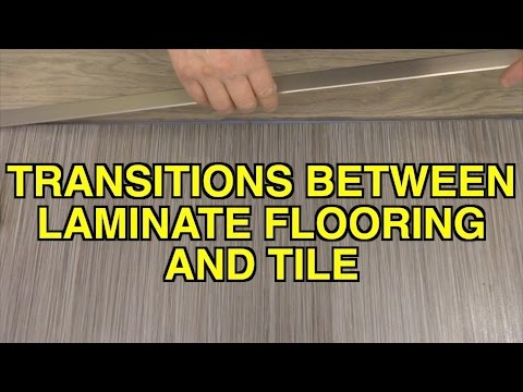 How To Install Flat Transitions Between Laminate Flooring And Tile