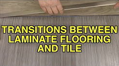How to Install Flat Transitions Between Laminate Flooring and Tile Tips MrYoucandoityourself