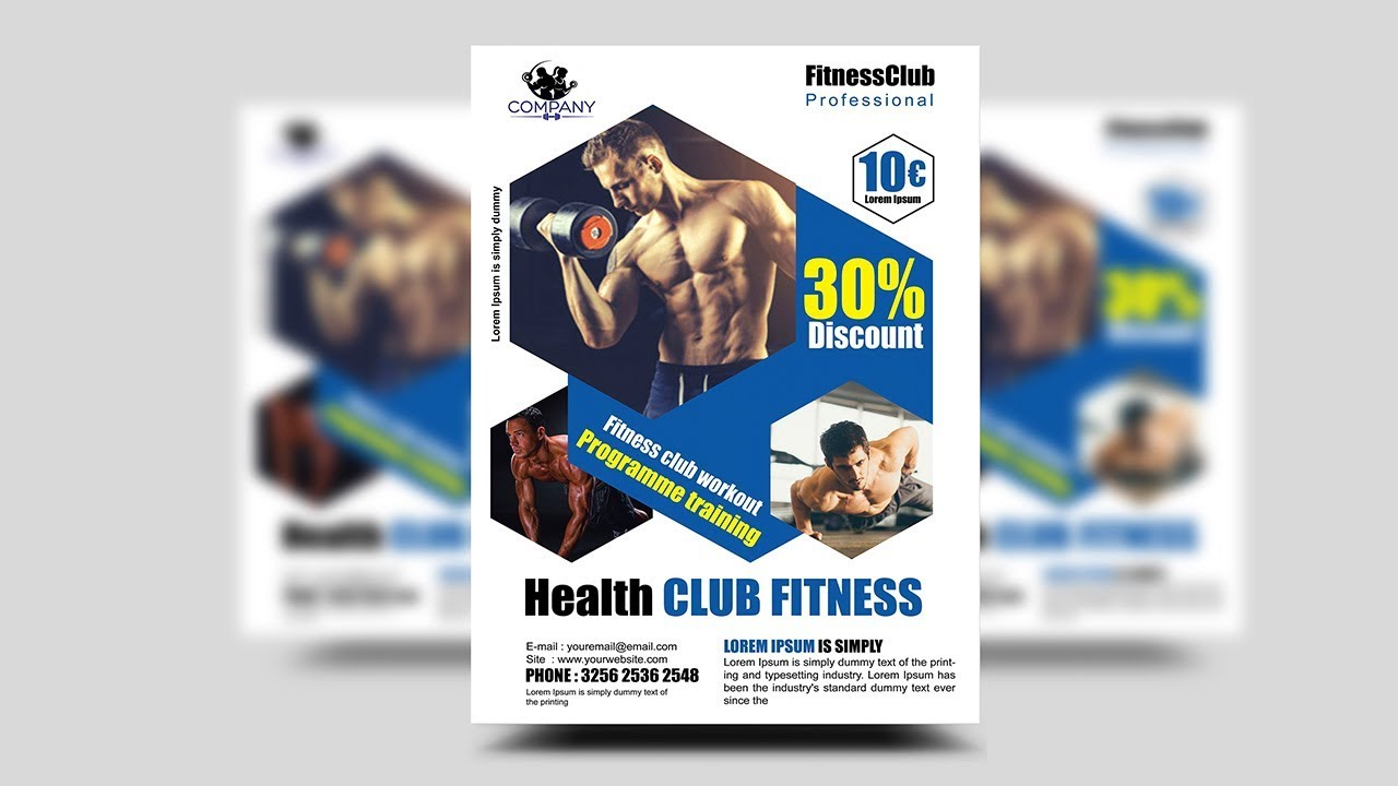 how to create a professional flyer in photoshop gym fitness flyer