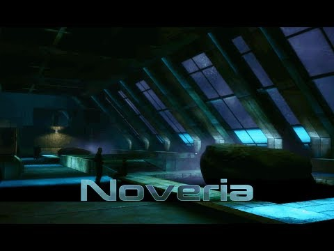 Mass Effect - Noveria: Port Hanshan Plaza [with music] (1 Hour of Ambience)