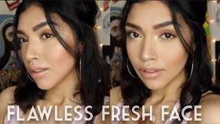 "FLAWLESS FRESH FACE ""NO MAKEUP"" SPRING TUTORIAL!"