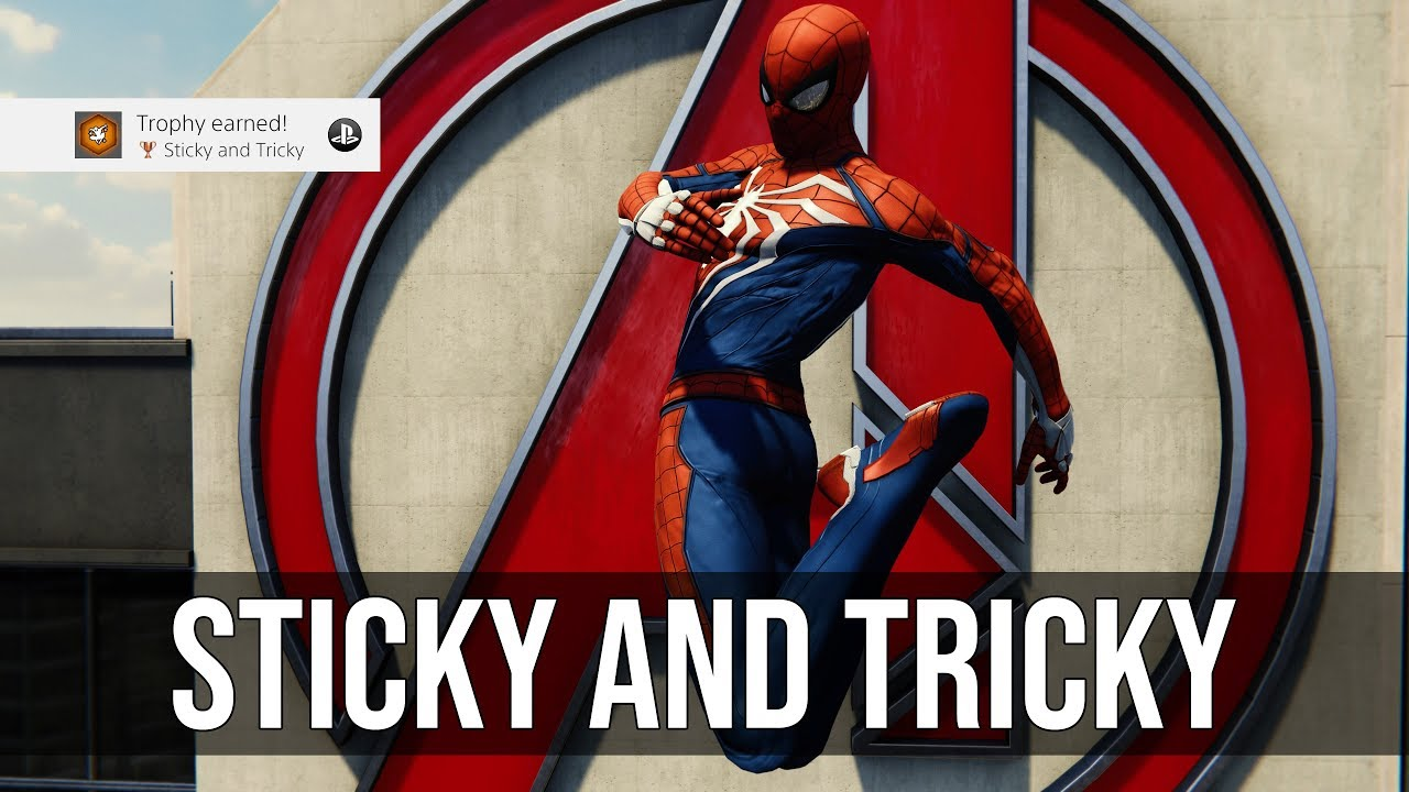 Sticky and Tricky Trophy Tutorial (Chain 4 Unique Tricks) - Marvel's  Spider-Man PS4