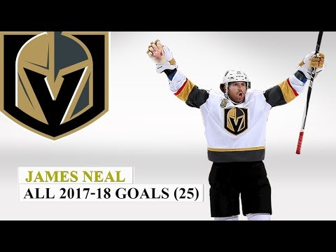 James Neal (#18) All 25 Goals of the 2017-18 NHL Season