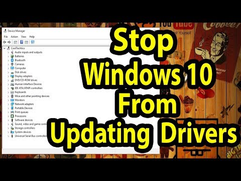 Stop Windows 10 From Updating Drivers ( Display driver, Videos driver,Nvidia driver, amd driver etc)