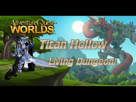 AQWorlds - Living Dungeon | Titan Hollow | Drayko Fight
