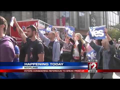 Scots decide whether to declare independence