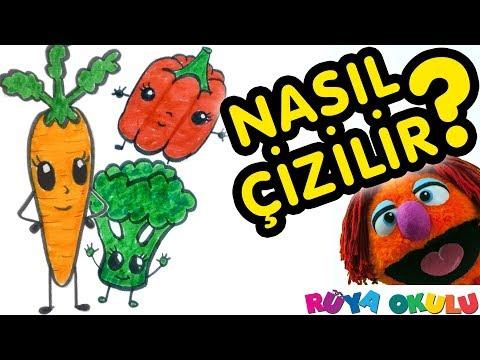 Sebze Nasıl Çizilir? -🥕🥦🌶️ - Çocuklar İçin Resim Çizme - Sebzeler #1 - RÜYA OKULU