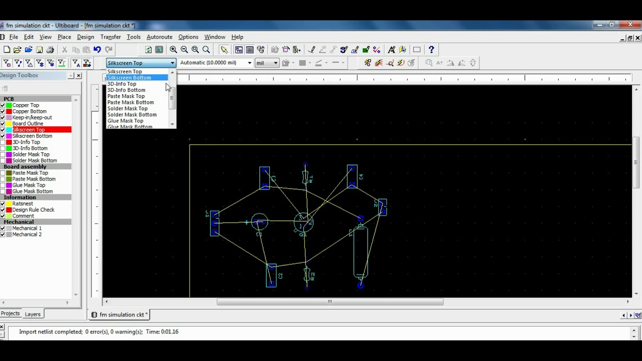 PCB Design for Frequency Modulation with Multisim - YouTube