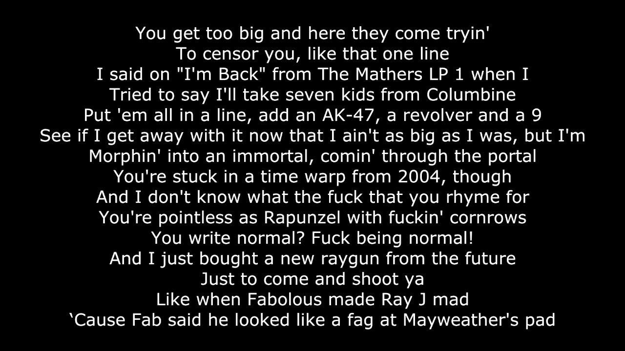 how to write a rap song like eminem albums