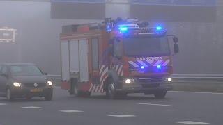 P1 -  Brandweer 17-3631 17-3431 17-3451 17-9194 met spoed over de A29 bij Barendrecht!