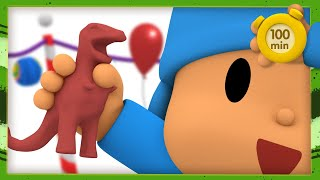 🦕 POCOYO AND NINA - Dinosaurs [100 minutes]   ANIMATED CARTOON for Children   FULL episodes