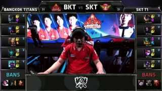 BKT (G4 Irelia) VS SKT (Faker Olaf) Highlights - S5 World Championship Group W1D2