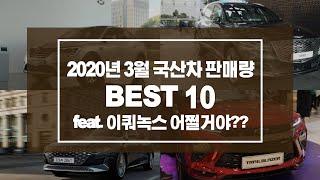 2020년 3월 국산차 내수 판매량 순위 Top10. …
