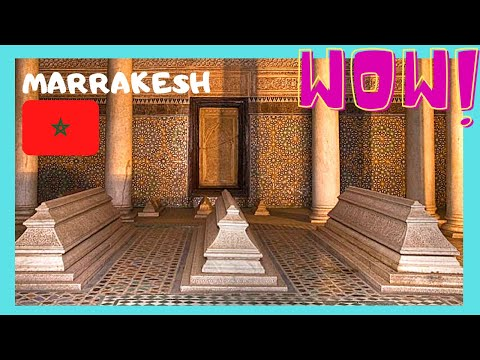MARRAKECH, the magnificent 16th century SAADIAN TOMBS (MOROCCO)