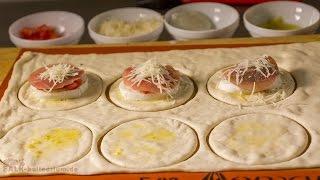 Rezept für gefüllte Pizza-Waffeln
