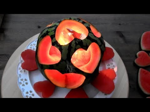 DIY Watermelon Heart | Watermelon Carving | Fruit & Vegetable Carving Lessons