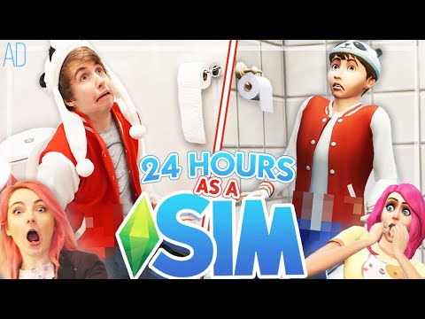 Living As My Sim for 24 Hours!