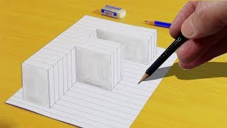 How To Draw 3d Raising letter F | Very Easy 3D Trick Art paper | Drawing 3D Art